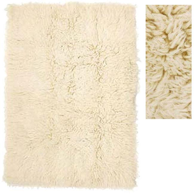 White Greek Flokati Wool Rug 9 X 12 Free Shipping