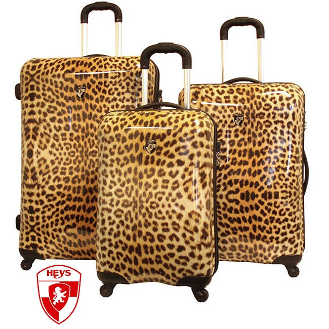 Heys USA Exotic Leopard 3-piece Hardside Spinner Luggage Set