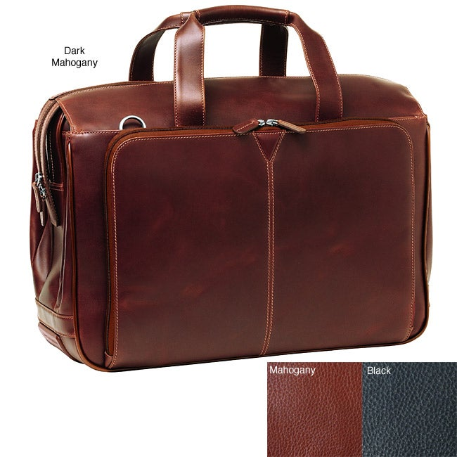 Johnston & Murphy Leather Over Nighter Briefcase