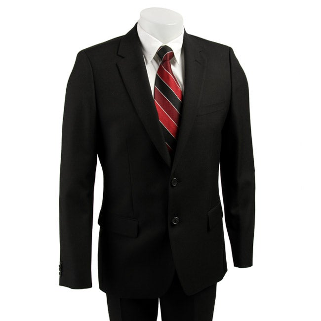ae9d7afe8 Shop Hugo Boss Red Label Men's Black Suit - Free Shipping Today - Overstock  - 3449982