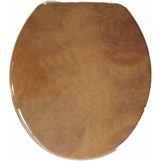 Wood Grain Molded Wood Toilet Seat (Trimmer? Marblized Mo...
