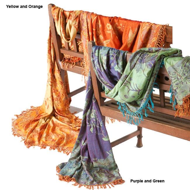 Merino Wool & Silk Throw (India)