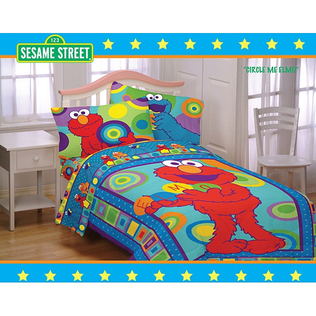 Sesame Street Comforter Set With Valance