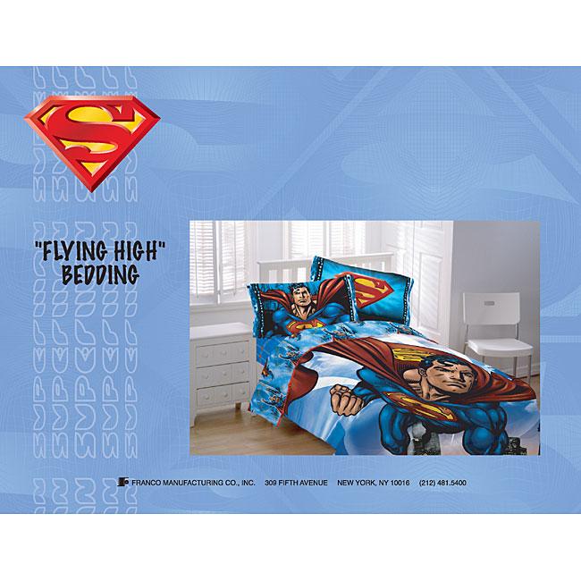 Superman Comforter and Sheet Set