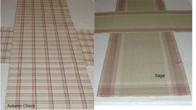 Pair of Hand-woven Cotton Table Runners (India)