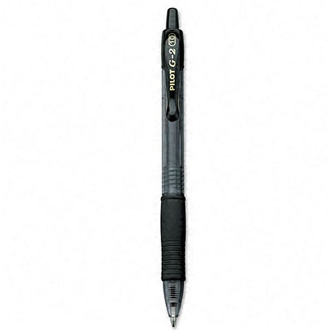 Pilot G2 Black Gel Ink Refillable Pen (Pack of 12)