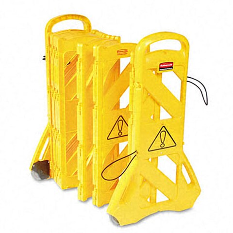 Rubbermaid Portable Mobile Yellow Safety Barrier