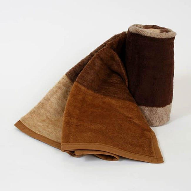 Scotland Cognac Throw Blankets (Set of 2)
