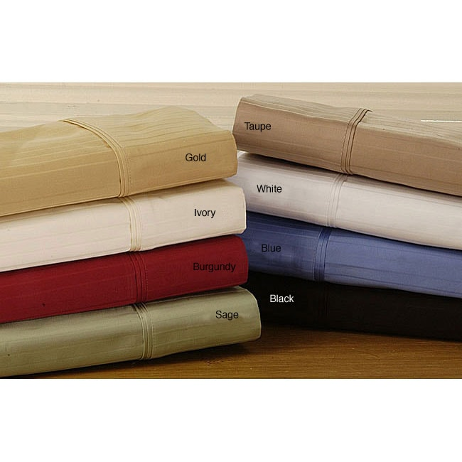 Egyptian Cotton 800 Thread Count Striped Olympic Queen Sheet Set