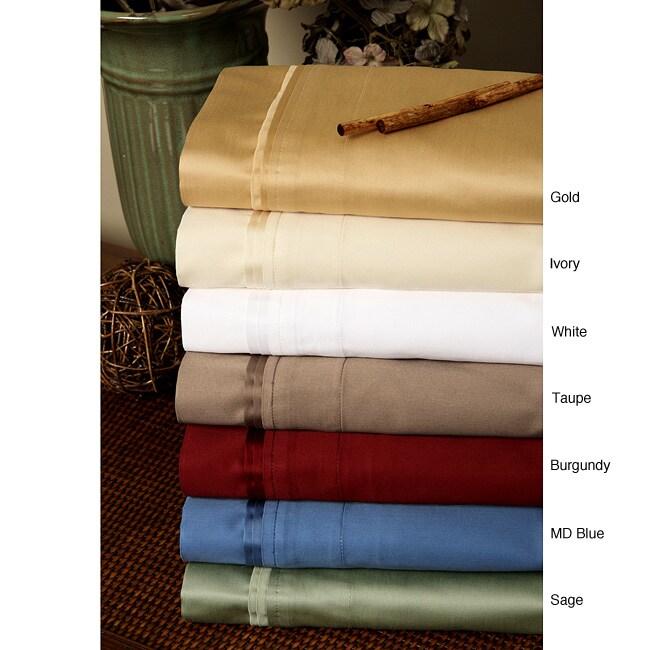 Shop Egyptian Cotton 1000 Thread Count Twin XL Sheet Set   Free