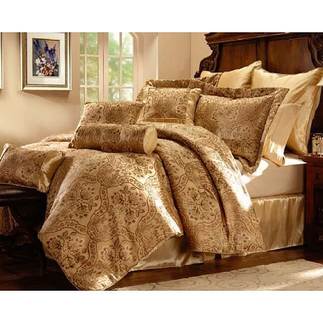 Lucy Beige Luxury 7-piece Comforter Set