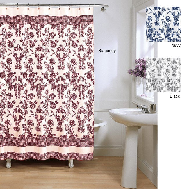 Toile Fabric Shower Curtain