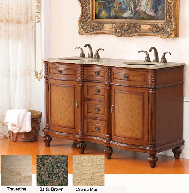 shop turner 58 inch double sink bathroom vanity free shipping today 3458873