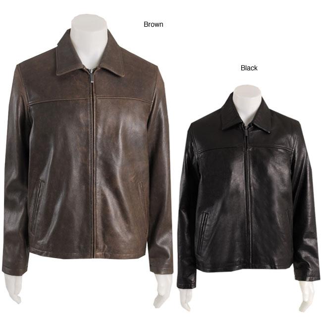 Kenneth cole leather jacket men