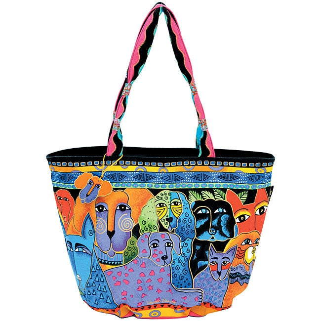 Canvas Boat Canine Clan Tote Bag