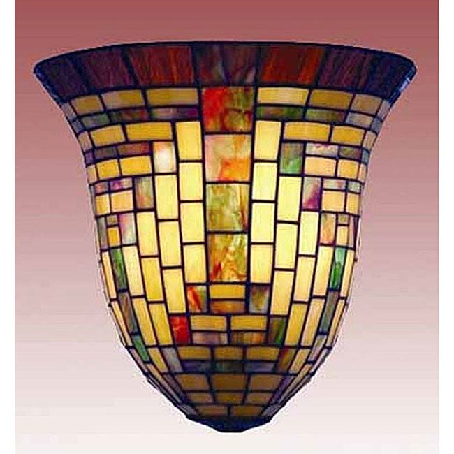 Wall Sconces Stained Glass : Tiffany-style Stained Glass Mission Wall Sconce - Free Shipping Today - Overstock.com - 11536235