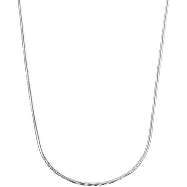 Fremada 10k White Gold Snake Chain Necklace (18-inch)