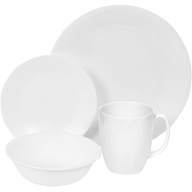 Corelle Winter Frost White 64-piece Dinnerware Set