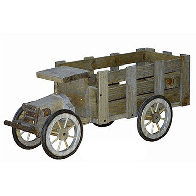 Wooden Truck Flower Planter Free Shipping Today