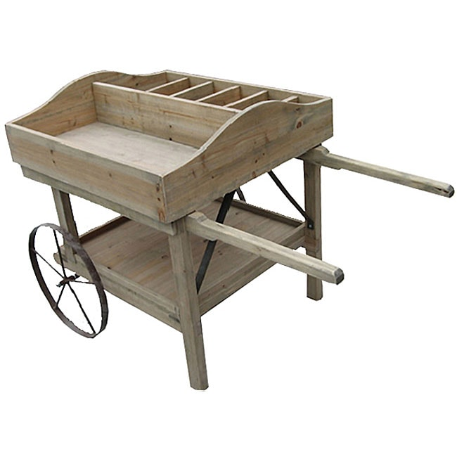 Deluxe Wine and Flower Cart Planter - Free Shipping Today ...