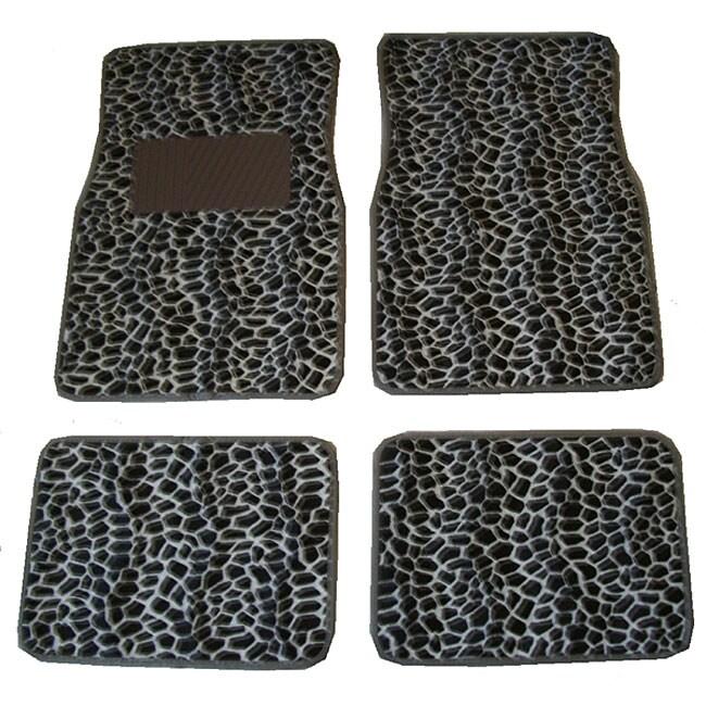 Front and Rear Giraffe Print Car Floor Mats