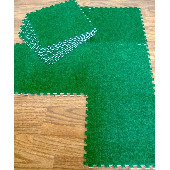 nuLOOM Kids Playroom 12-inch Square Carpet Links (Set of 12)