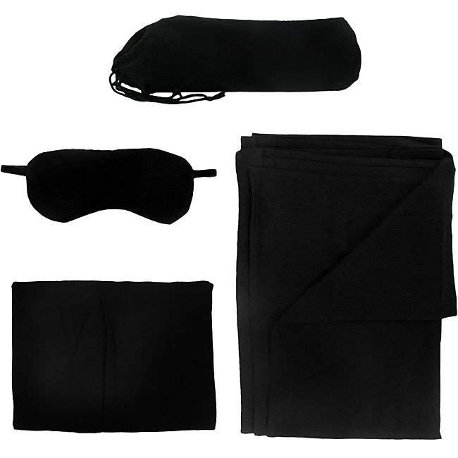 Airline Travel Kit with blanket and eye mask