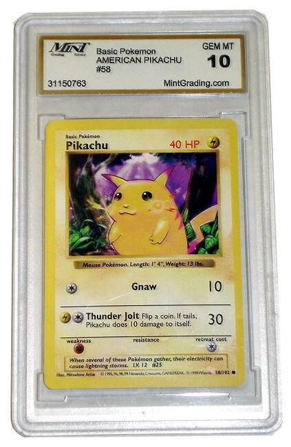 Pokemon Pikachu (Gem Mint 10) Card