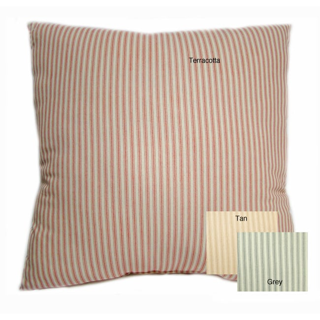 Ticking Stripe Large 24-inch Floor Cushion - Free Shipping On Orders Over USD45 - Overstock.com ...