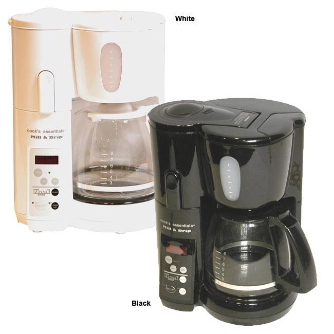 Cooks Essentials 8-Cup Mill & Drip Coffeemaker (Refurbished)