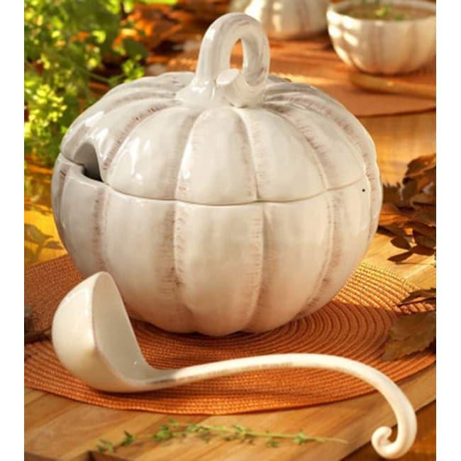 American Atelier Pumpkin Tureen with Ladle