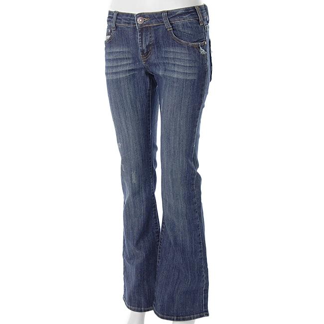 Smash Junior's Vintage Distressed Flair Jeans