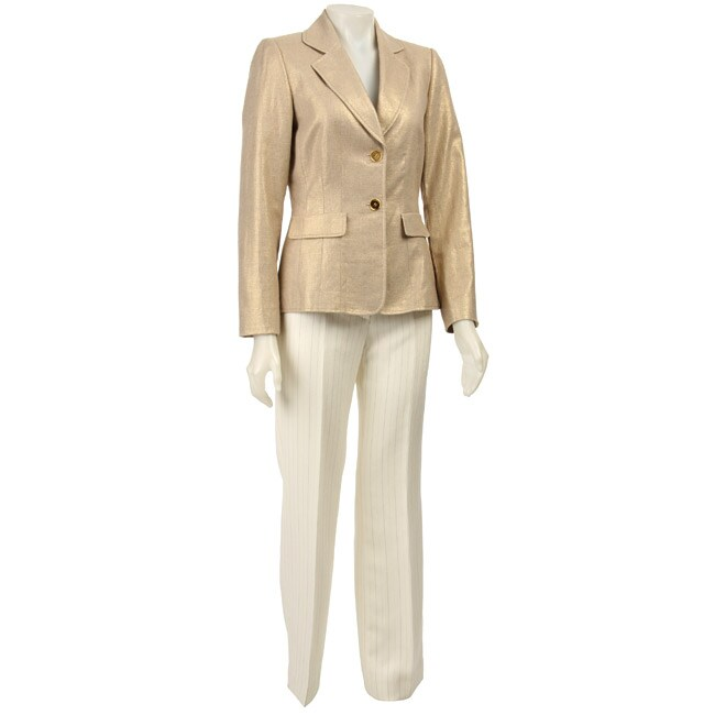 Tahari ASL Women's Gold 'Palm Beach' Pant Suit