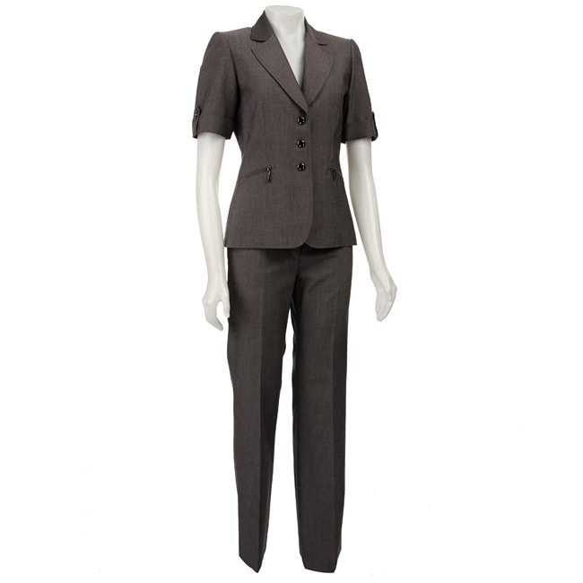 Original  Women Suits Fitted Pockets Short Pants Suits Solid Color Work Women
