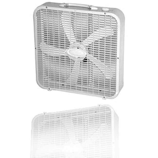 Optimus White Whisper-quiet 20-inch Box Fan