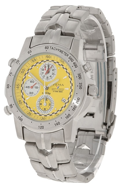 Yema by Seiko of France Men's Stainless Steel Chronograph Watch - Thumbnail 0