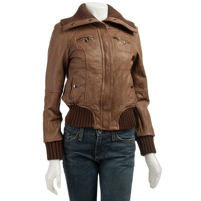 Michael Michael Kors Women S Leather Bomber Jacket Free