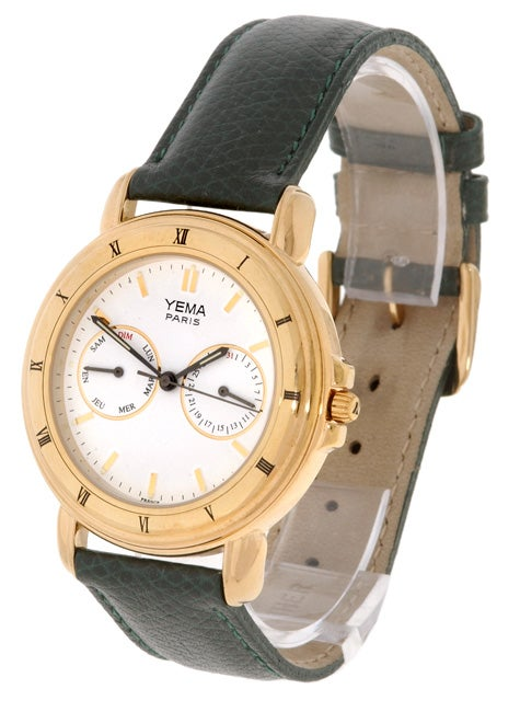 8deb23c98 Shop Yema by Seiko of France Men's White Dial Calendar Watch - Free  Shipping Today - Overstock - 1613417