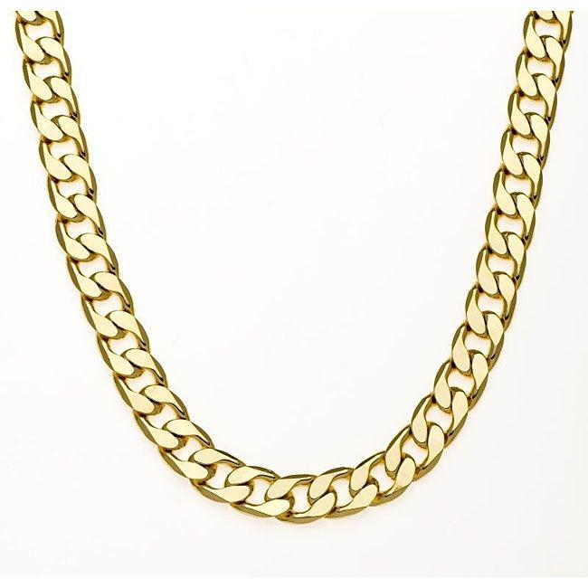 Simon Frank 14k Gold Overlay 42-inch Cuban Necklace