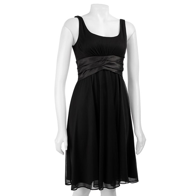 Scarlett Nite Women's Satin Shutter Pleat Dress