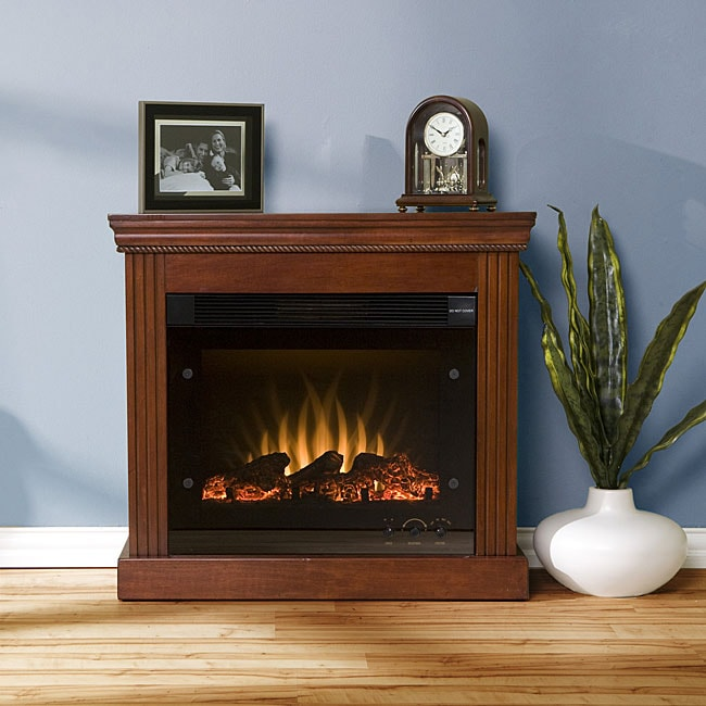 Avery Classic Mahogany Electric Fireplace - Free Shipping Today ...