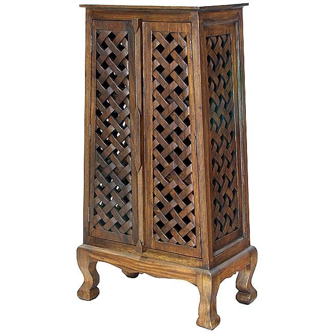 Hand-carved Lattice Design 50-inch Storage Cabinet