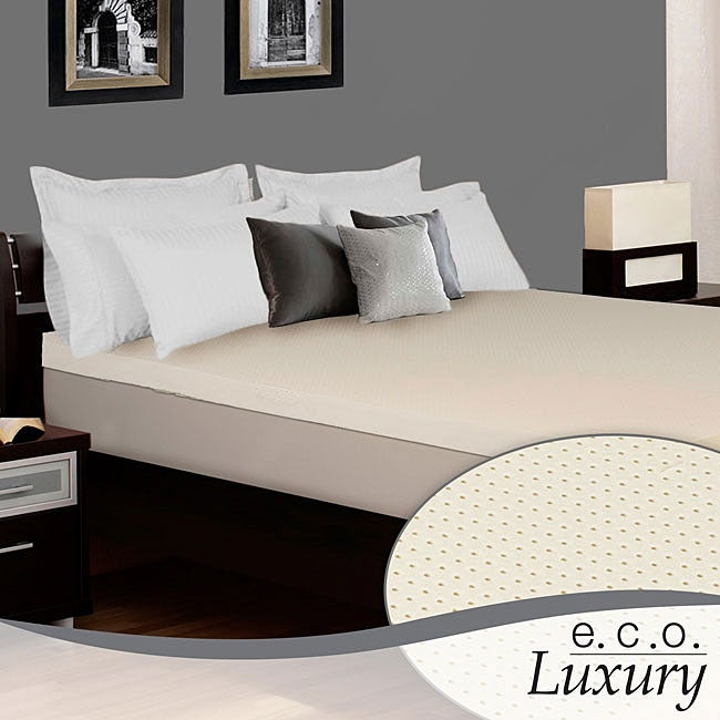 E.C.O. Luxury Latex 1.5-inch Queen-size Mattress Topper