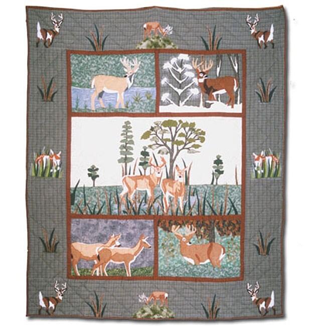 White Tail Deer Throw Blanket