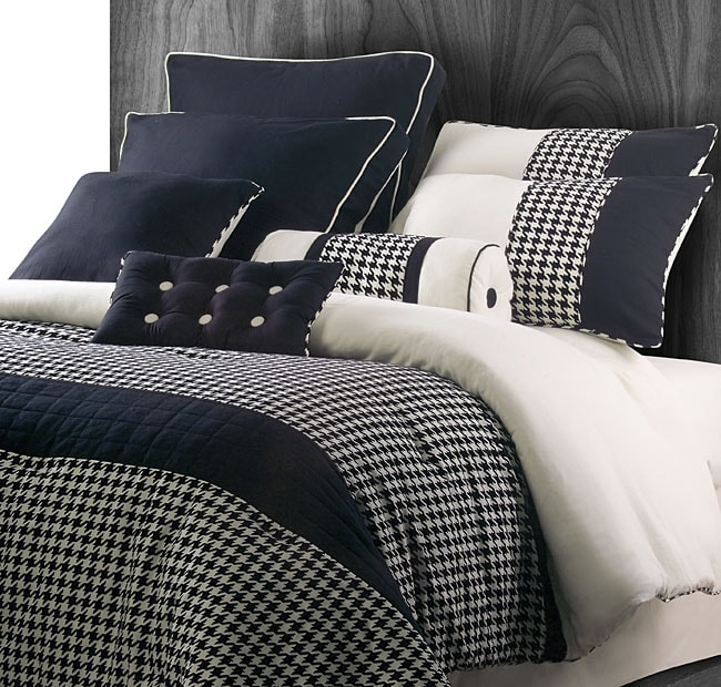 Houndstooth 9-piece Comforter Set - Thumbnail 0