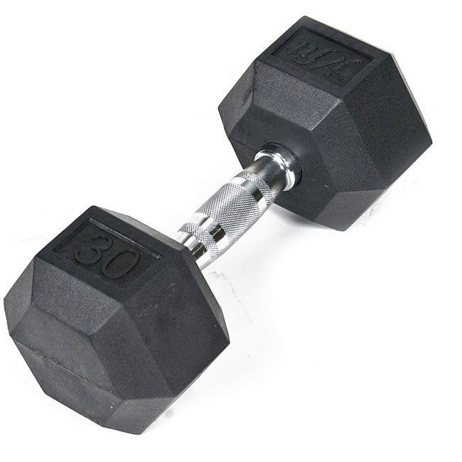 Rubber 30-pound Dumbbell