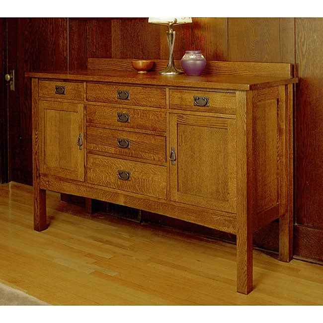 Mission Solid Oak Sideboard Free Shipping Today  : L11553884 from www.overstock.com size 650 x 650 jpeg 83kB