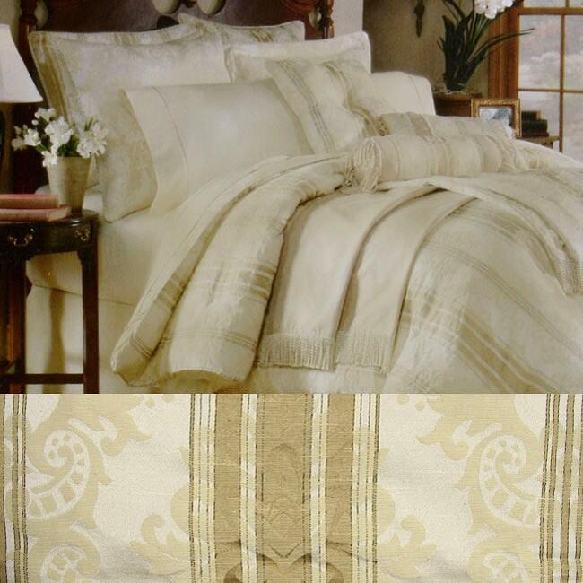 Bellagio 22-piece Ivory Bedding Ensemble