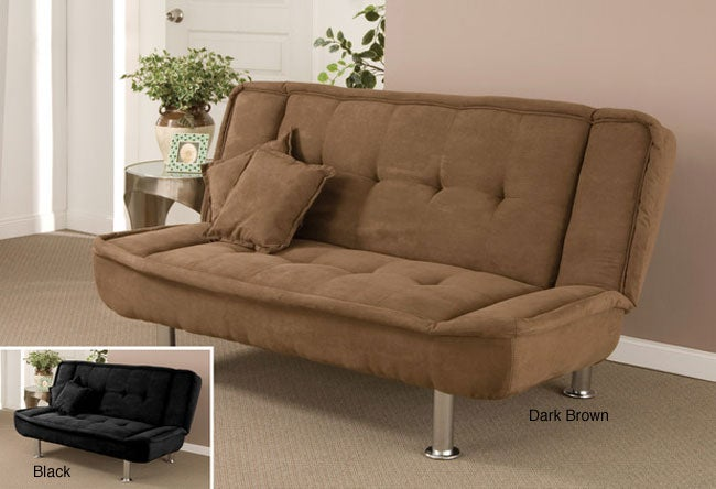Microfiber Futon Bed with Two Pillows