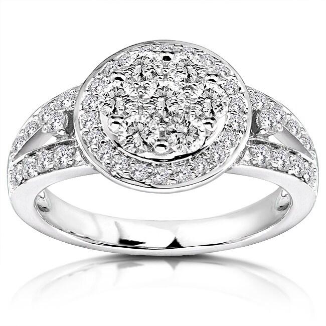 Annello by Kobelli 14k Gold 4/5ct TDW Diamond Engagement Ring (G-H, I1-I2)
